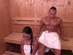 romantic sex in the sauna