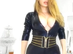 HOT BRUNETTE CAM GIRL BIG TITS IN LATEX BODY SUIT (PART I)
