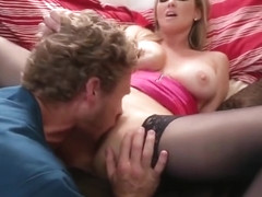 Pretty bald Abbey Brooks in great massage porn video