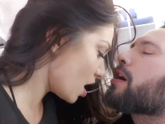 Lea Lexis is a submissive slut for a guy who likes her to be like that