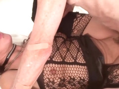 Miss kitty go wild and horny with an old guy