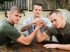 Richard Buldger, Ryan Jordan & Quentin Gainz Military Porn Video - ActiveDuty