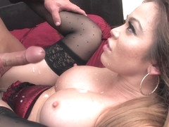 Busty Whore Mia Lelani With Stockings Takes Cock