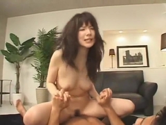 Crazy Japanese chick Rui Saotome in Fabulous Blowjob, Facial JAV video