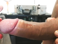 CloseUp Teen Red Lipstick Blowjob till Cum in mouth