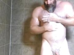 Muscle Daddy Rick Flex Jerk Off  Cum