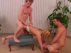 Amateur Blonde Gives Head While Riding Cock