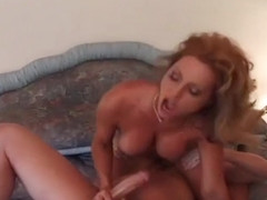 Naughty Blonde MILF Takes Big Dick For A Ride