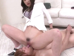 Ayumi Iwasa tries dick in each of her greedy holes