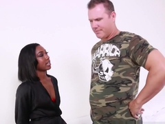 Cute Chanell Heart Fucks An Older White Guy