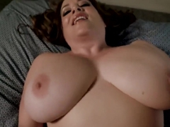 Step Mom with Huge Tits Catches Step Son Jerking Off to Porn - Maggie Green