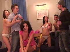 Jocelyn & Key & Margo & Black Panther & Nicole B & Twiggy in hot student girls getting fucked by a.