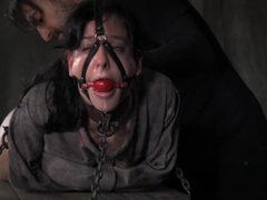 Gagging Submissive Whipped In Maledom Action