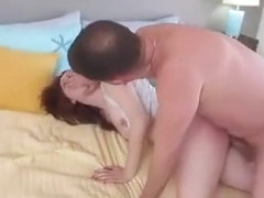 Redhead Leigh Rose Drilled In Her Shaved Pussy On The Bed