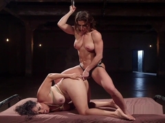 Busty Wrestler Spanked And Anal Fucked In Lezdom