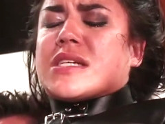 Monica Sage's first time in bondage on camera and first DP e