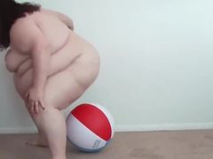 Fatty Tested... NOT Approved! - SSBBW Tests Out Inflatable With BBW Body