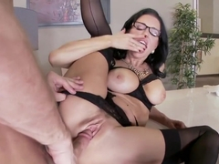 MILF cock sucking in the office