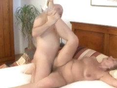 Tempting unhaved latino mature female receives anal