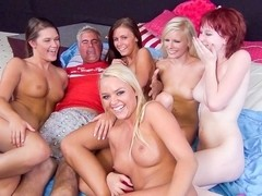 Elaina Raye, Abby Cross, Alexis Monroe, Whitney Westgate, Zoey Nixon in Five Floozy Females Fuck F.