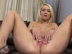 Blond Cat playing with her pussy and getting satisfied