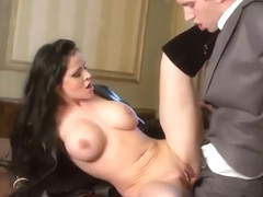 Beauteous breasty British Anastasia Brill prefer to be fucked in her asshole