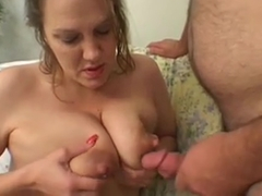 Cum on lactation tits - part 5