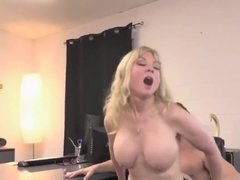 blond mature office