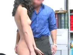Curly lovely Jada Doll gets deep penetrated by a guard