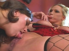 Two Hotties Nikki Hunter And Kelly Kline Sharing A Fat Cock