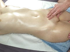 Shaking Squirt Orgasm From Erotic Oiled Massage Redhead With Oil Tits
