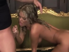 Trisha Brill gets jizz on her chest