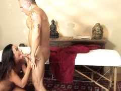 Fetching small titted latin Tiffany Brookes receiveing huge facial cumshot