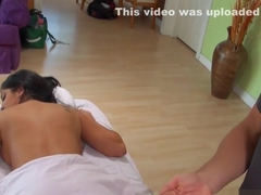 Frisky barely legal brunette kimber kay chokes on a big one