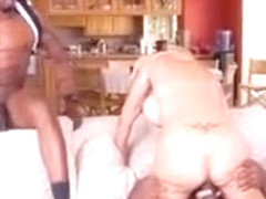 Sexy Milf Brooke Tyler Enjoys Two Black Cocks