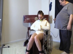 Alisha: Bound in Straitjacket & Wheelchair for Enema - ABDL, Diaper Fetish