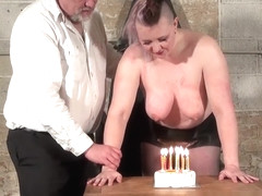 Slave Bunnys birthday breast whipping and celebratory