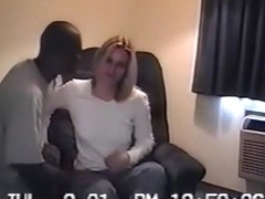 A blonde girl's first cuckold experience with 2 black guys