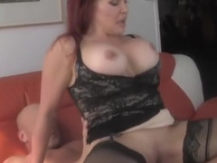 Lovely breasty latin mom Sexy Vanessa is blowing my cock