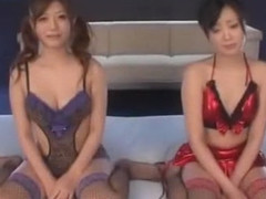 Crazy Japanese girl Uta Kohaku, Haruki Sato in Horny Facial, Stockings/Pansuto JAV movie