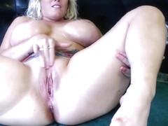 Busty Blonde Goddess Masturbates And Squirts