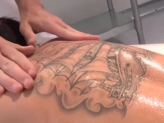 Tattooed massage client Christy Mack banged