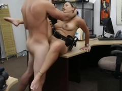 Latina Cop Fucked in Pawn Shop