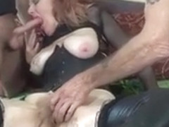 The Arizona HotWife gets stroked, suck cocks and cum on tits