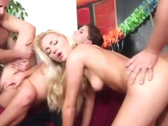 Incredible Kristine Crystalis is sucking penis