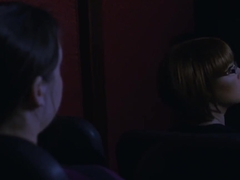 Teen Fucks Boyfriend In The Cinema With Her Stepmom There