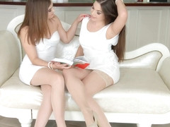Lesbian scene with Evalina Darling and Diana Dolce by Sapphic Erotica