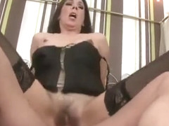 Tempting breasty Hajni making an extreme deepthroat