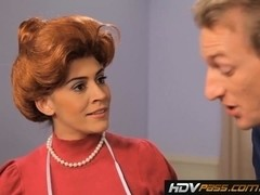 Sexy Redhead Housewife Raylene Gives a Loving Blowjob