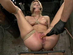 Amanda Tate in Beautiful First Timer Gets Stretched And Nailed - HogTied